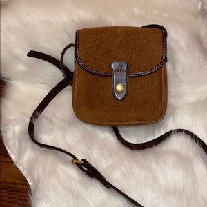 Dooney & Bourke Pebbled Suede/ Leather Crossbody